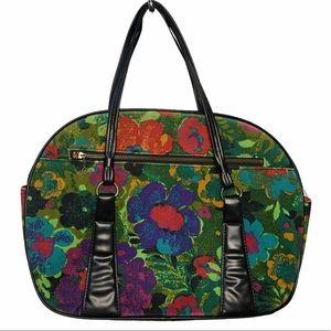 VTG 60s Poppy Floral Shoulder Tote Bag in Multi